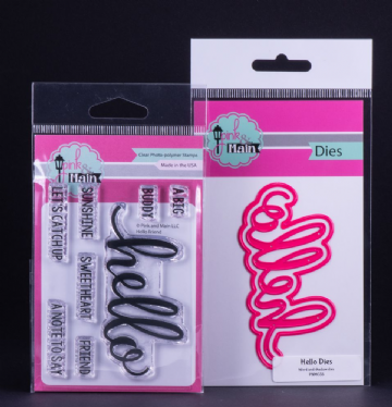 Pink & Main Hello Stamp and Die Set